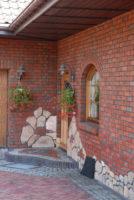 фасад из плитки Roben wasserstrich hellrot bunt