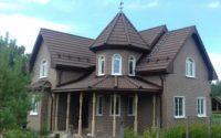 фасад из плитки natural-brown
