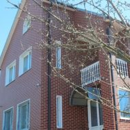 плитка semir brown на фасаде