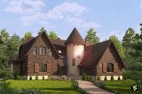 Архитектурная 3D визуализация дома отделанного King klinker №20