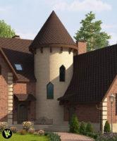 фасада облицован: клинкерная плитка King klinker №07