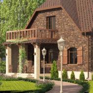 Архитектурная визуализация дома отделанного King klinker №20