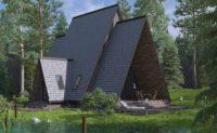 дом у озера дизайн и 3D визуализация