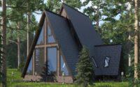 дом в лесу 3 д визуализация