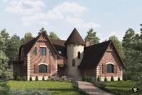3D визуализация экстерьера с плиткой King klinker