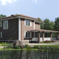 Фасад из клинкерной плитки Stroher 377