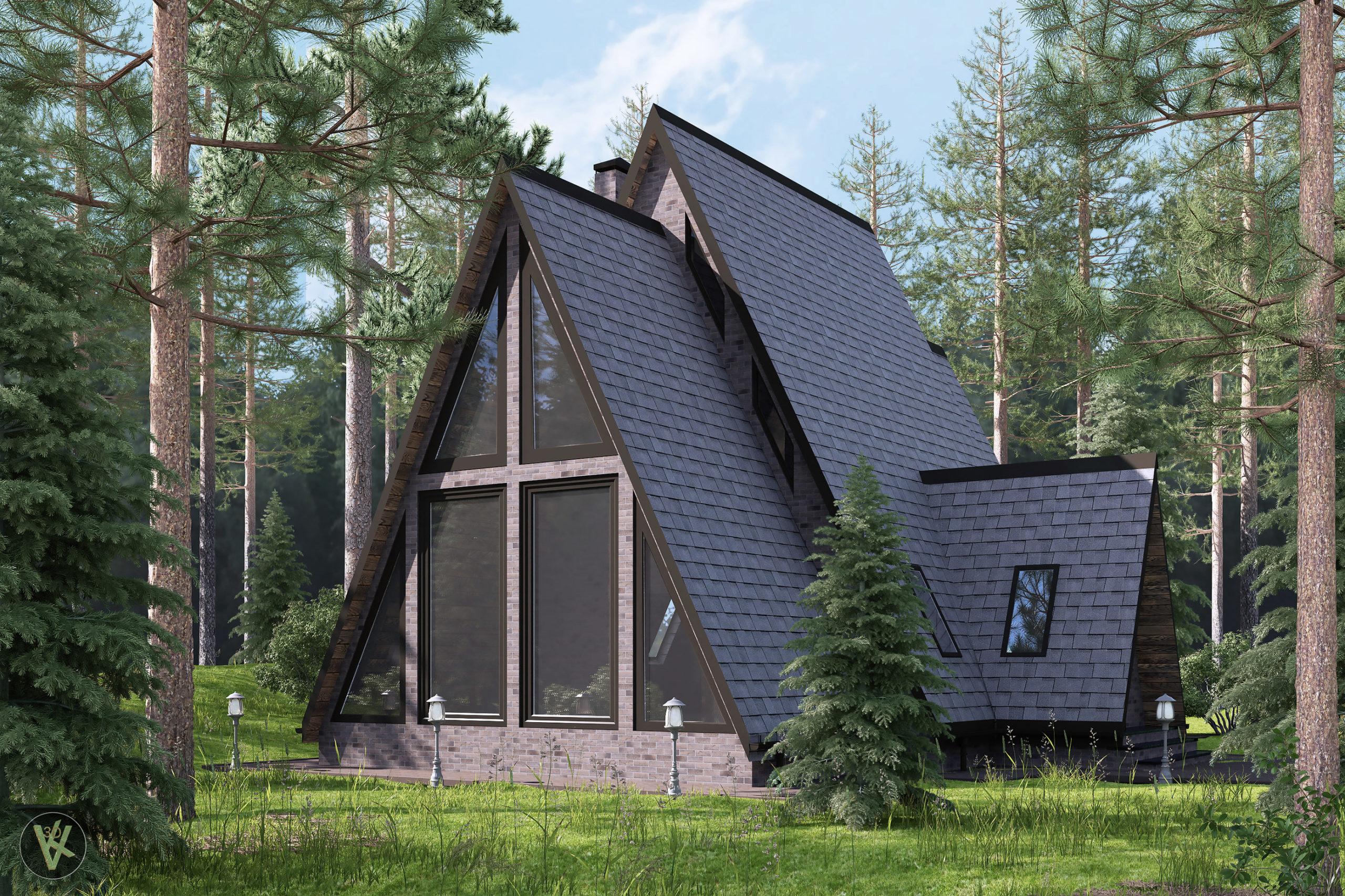 визуализация фасада дома